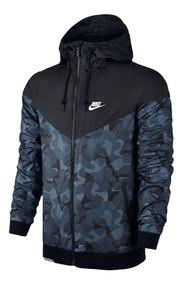 Jaqueta Corta Vento Nike Windrunner Camuflada/ Azul