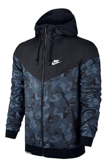 Jaqueta Corta Vento Nike Camuflada Masculina Impermeável