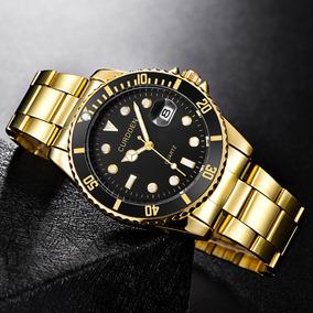 Relógio Masculino Dourado Performer