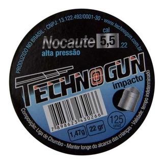 Chumbinho Nocaute Technogun 5.5mm Latinha C/ 1000 Unidades