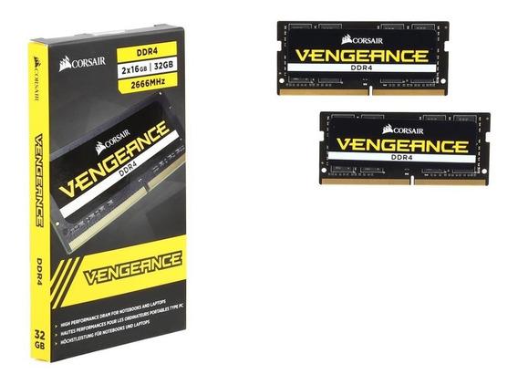 Kit Vengeance Memoria Notebook Ddr4 32gb 2666 (2x16)