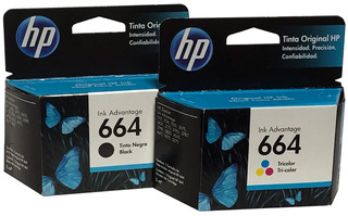 Combo Cartuchos De Tinta Original Hp 664 Color Y Negro