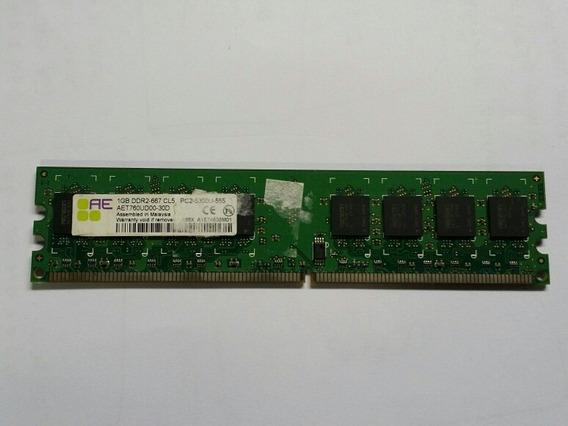 Memória Pc 1gb Ddr2 Cl5 Pc2-5300u-555