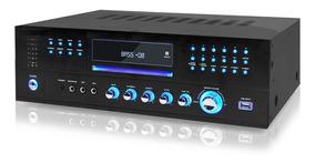 Amplificador Receiver Audio Video Dvd Usb Mp3 Karaoke 3000w