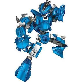 Blocos De Encaixe Robô Guerreiro Blue Armor 65 Peças