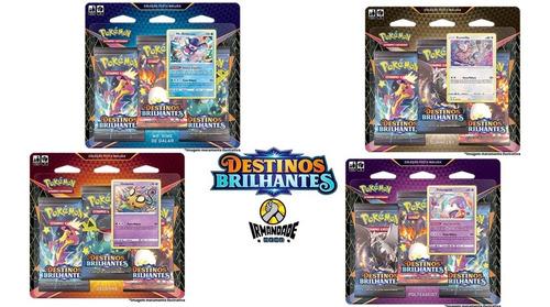 4 Triple Pack Destinos Brilhantes Ee4.5 Pokémon - Copag