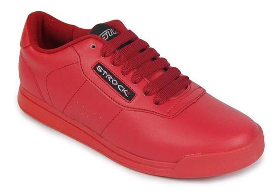 Tenis Dama Incogita Clásicos Tipo Piel Casuales Rojo