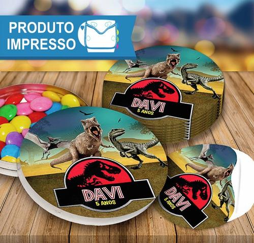 50 Rotulo Adesivo Latinha Jurassic Park + Frete Grátis