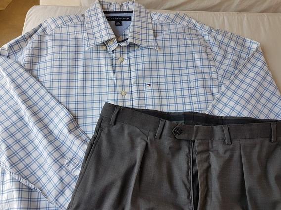 Pantalon Vestir Mancini 42 Y Camisa Tommy Hilfiger M