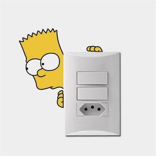 Adesivo Para Interruptor Bart Simpson - Padrão 15x14cm