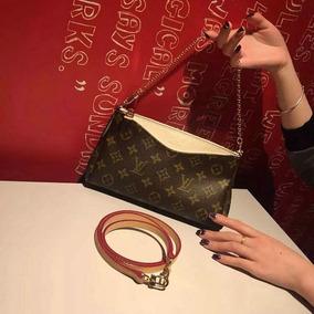 Bolsa Louis Vuitton Pallas Clutch Cartera Lv En Caja Factura