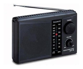 Radio Portatil Dc Am/fm Sony Icf-18