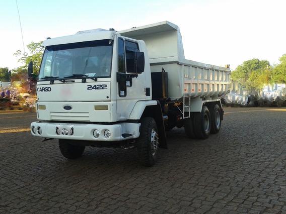 Caminhão Ford Cargo 2422 6x4 Traçado Equipado Com Caçamba