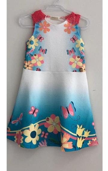Vestido Kids Verão Malagah Flores