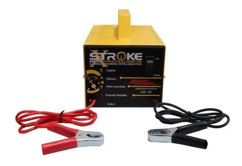 Carregador Bateria Carro 5ah 12v C/led Inteligente + Brinde