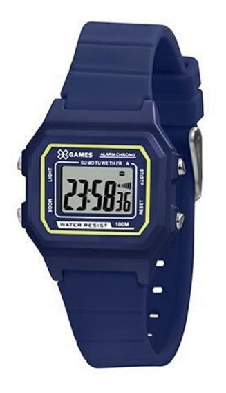 Relógio Infantil Masculino Azul X-games Digital Silicone