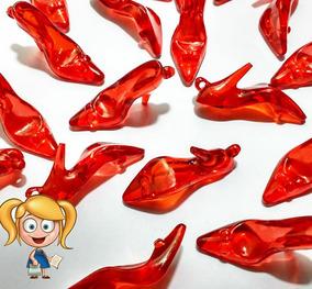 150 Sapatinho De Acrílico Para Lembrancinha - Vermelho