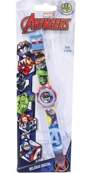Relogio Infantil Digital Pulso Avengers Marvel 4659 Dtc