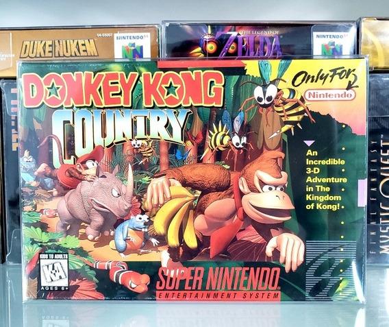Donkey Kong Country 1 Completa Cib Original Snes