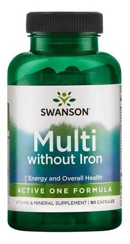 Multi Without Iron - Active One Formula- 90 Caps Swanson