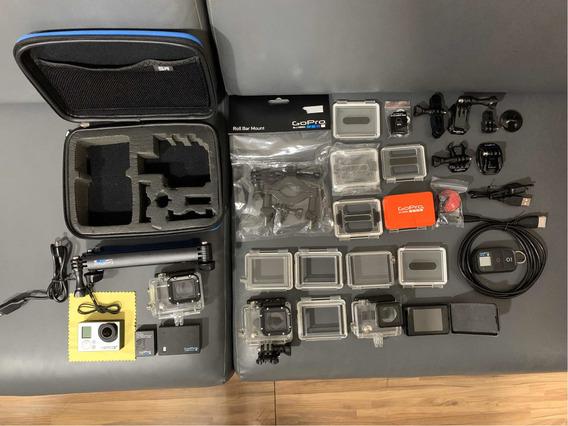 Câmera Gopro Hero 3 + Black Com Diversos Acessórios