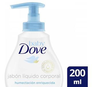 Dove Baby Jabón Líquido Humectante 200 Gr Frasco Plástico