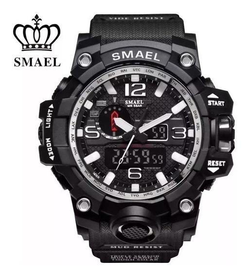 Relógio Masculino Militar Shock Smael Preto + Brinde