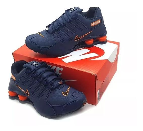 Tênis Nike Shoz Nz Foto Original Nvo Azul-laranja