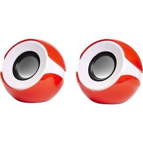Mini Alto-falante 2.0 Exbom Cs-69 Vermelha/branca