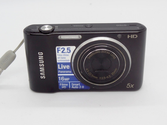 Camera Fotográfica Digital Samsung St66 16mp Barata +brindes