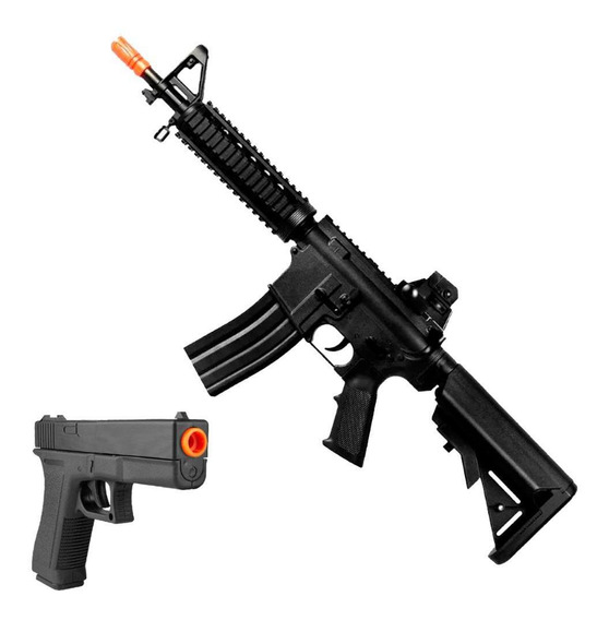 Rifle Fuzil Metralhadora Airsoft M4 Cqb Rossi Vigor + Brinde