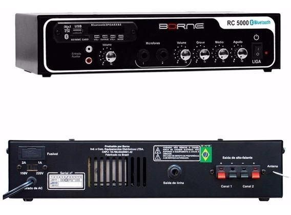 Mesa Receiver Potencia Som Ambiente Borne Rc5000 Bluetooth