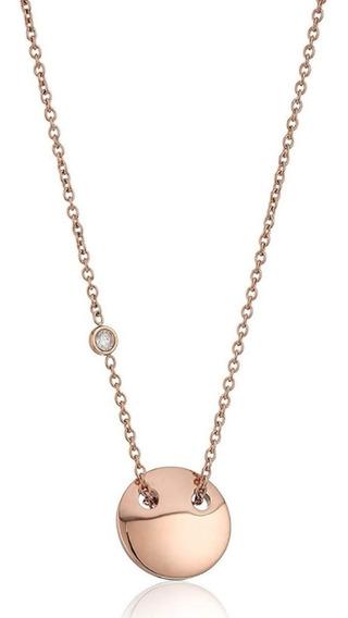 Collar Fossil Dama Gold Rose Nuevo Original Envio Gratis