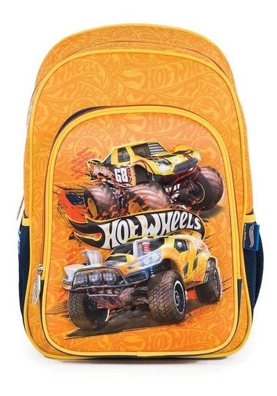 Mochila Escolar Chenson Hot Wheels 3d Niño Primaria Full