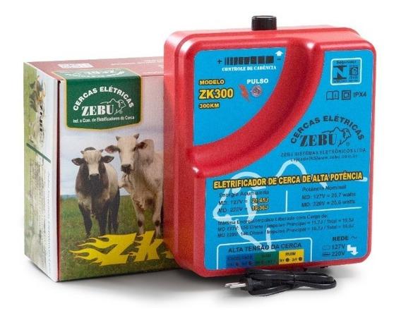 Eletrificador Cerca Elétrica Rural Super Potente Zebu Zk300