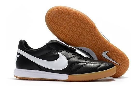 Tênis Futsal Nike Tiempo Premier    Preto #prontaentrega
