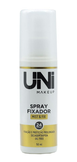 Spray Fixador De Maquiagem Oil Free 24horas Uni Makeup 50ml