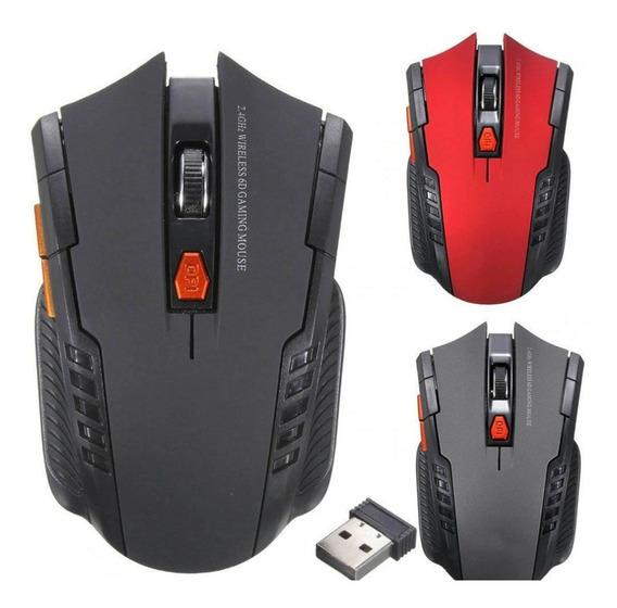 Mouse Gamer Sem Fio Wireles Óptico 2.4ghz Usb Pc Laptop