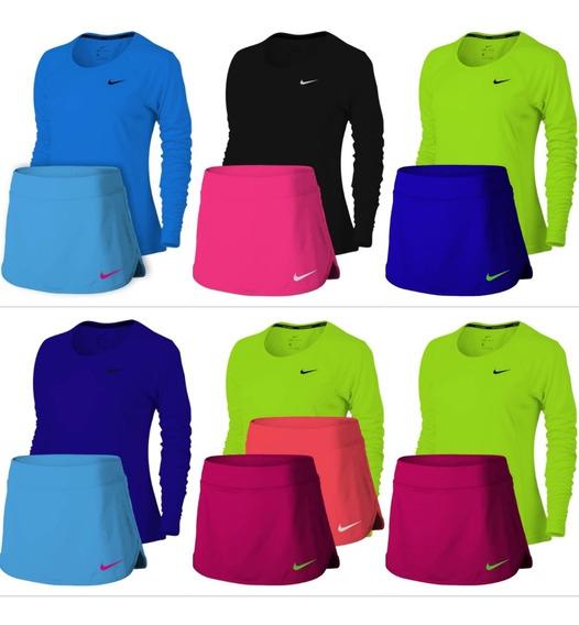 Conjunto Nike Falda Short Y Suéter Para Dama