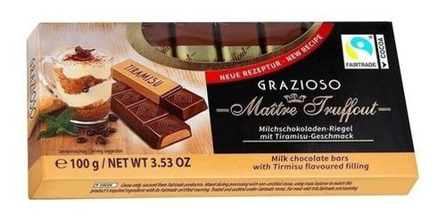 Imagen 1 de 1 de Chocolate Maître Truffout Grazioso Relleno De Tiramisú 100 G