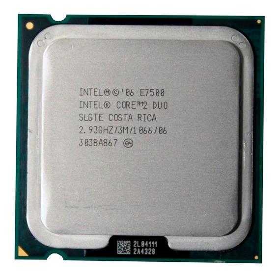 Lote De 6 Processadores Intel Core E7500 2,93 Ghz 1066 Mhz