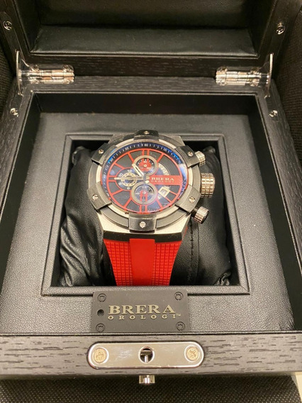 Relógio Brera Orologi Italiano 48 Mm Original Brssc4915 Red