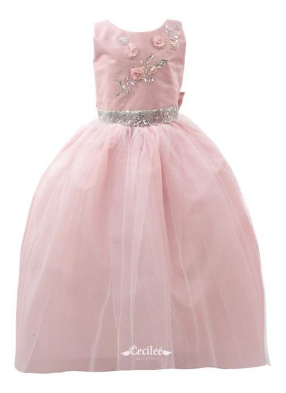 Hermoso Vestido Elegante De Ceremonia Niña Samara