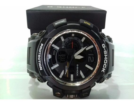 Relógio Esportivo Modelo Shock Pulseira Cinza + Caixa