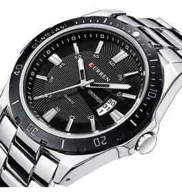 Relógio Masculino Curren Luxo Original Da Marca Cod:434
