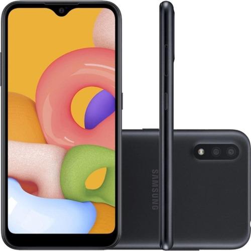 Samsung Galaxy A01 32gb 5.7 Octa-core 2.0 Ghz 13mp - Preto