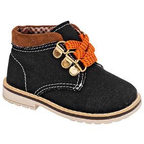 Botas Botines Casual Littlesteps Niños Textil Neg N52448 Dtt