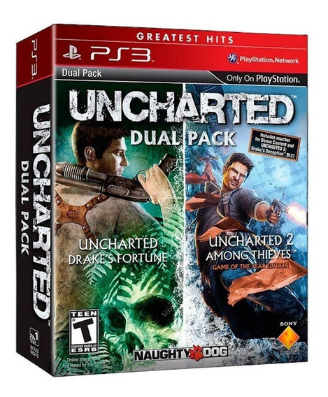 Uncharted Dual Pack Ps3 Mídia Física Pronta Entrega