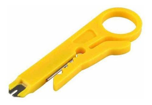 1 Pinza Pela Cable Plástico Amarillo Para Utp