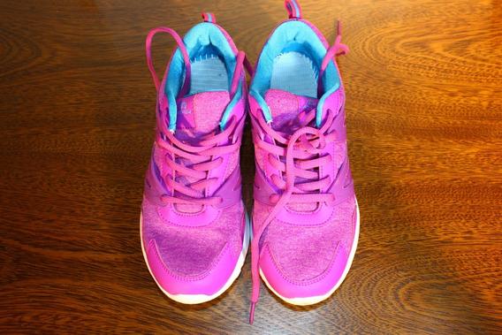 Zapatillas Running Athix Mujer Talle 38 Fuxia Optimo Estado!